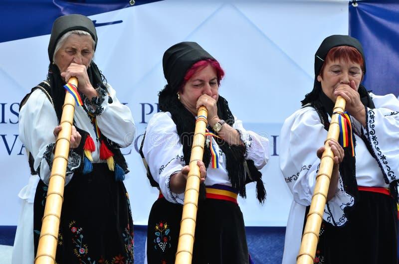 Festival do chifre alpino fotos de stock