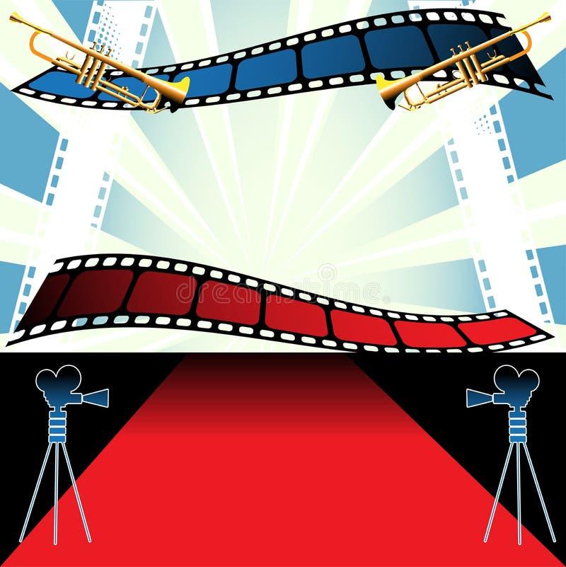 Festival do filme ilustração stock
