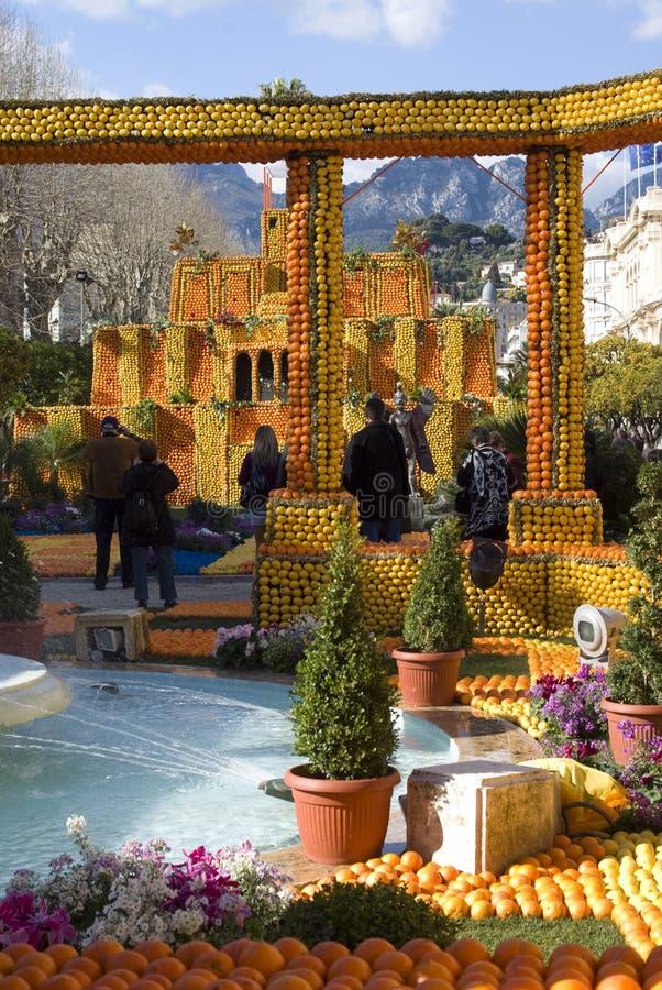 Festival do limão de Menton fotografia de stock royalty free
