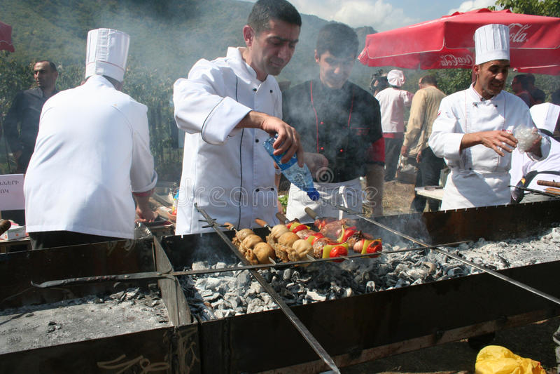 Festival do no espeto em Akhtala, Armênia fotografia de stock royalty free