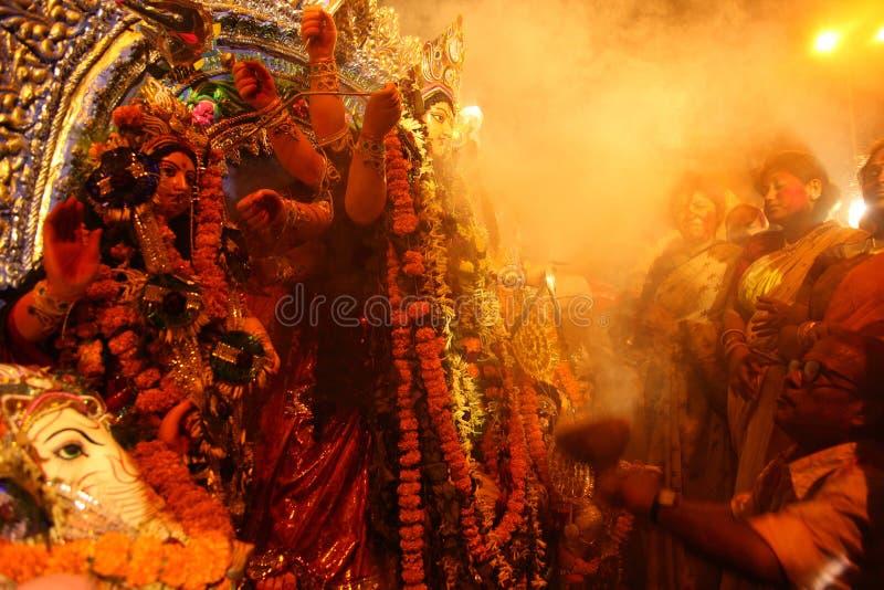 Festival do puja de Durga fotografia de stock royalty free