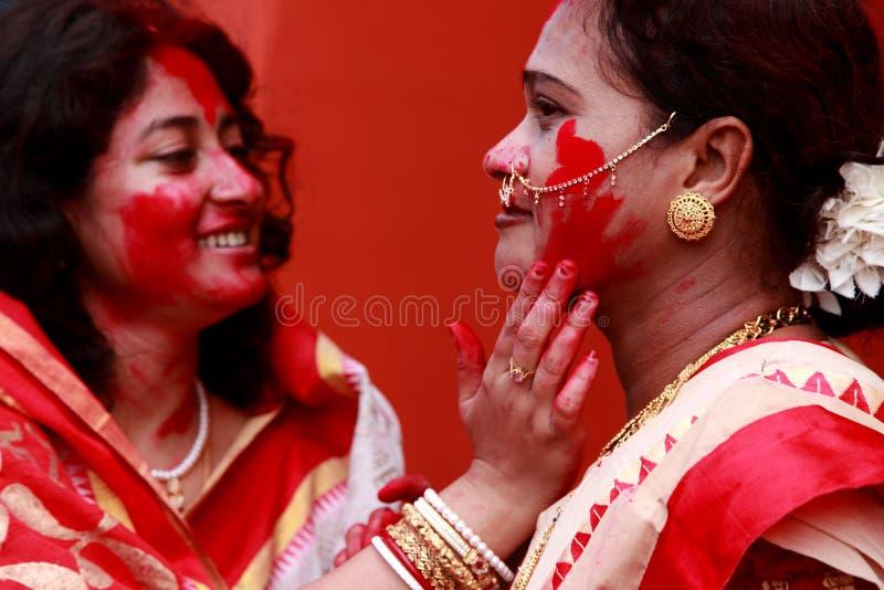 Festival do puja de Durga fotos de stock