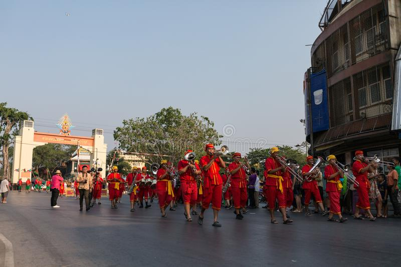 Festival do rei Narai, Lopburi, Tailândia foto de stock
