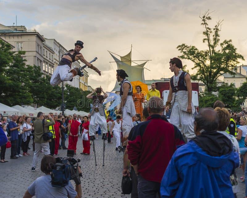 Festival do teatro da rua foto de stock
