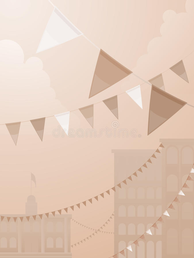 Festival do tom do Sepia ilustração royalty free