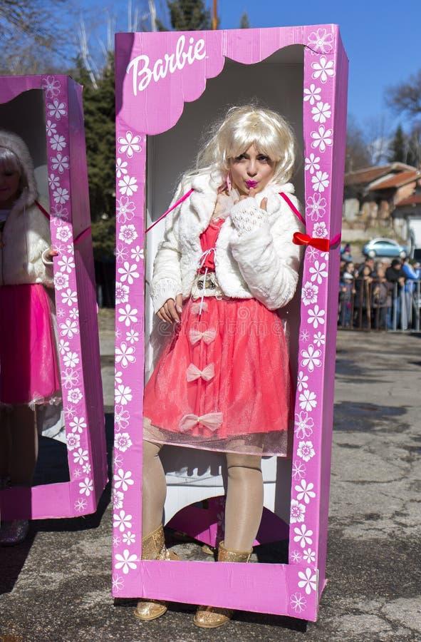 Festival do traje da máscara de Surva imagem de stock