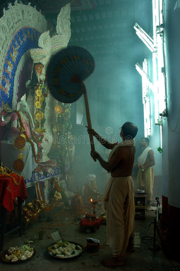 Festival dos Ídolos-Durga da argila de India fotos de stock
