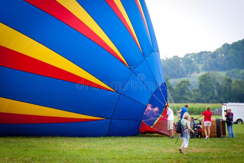 Festival dos balões de ar quente em New-jersey fotos de stock royalty free