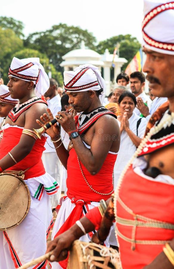 Festival dos peregrinos em Anuradhapura, Sri Lanka foto de stock royalty free