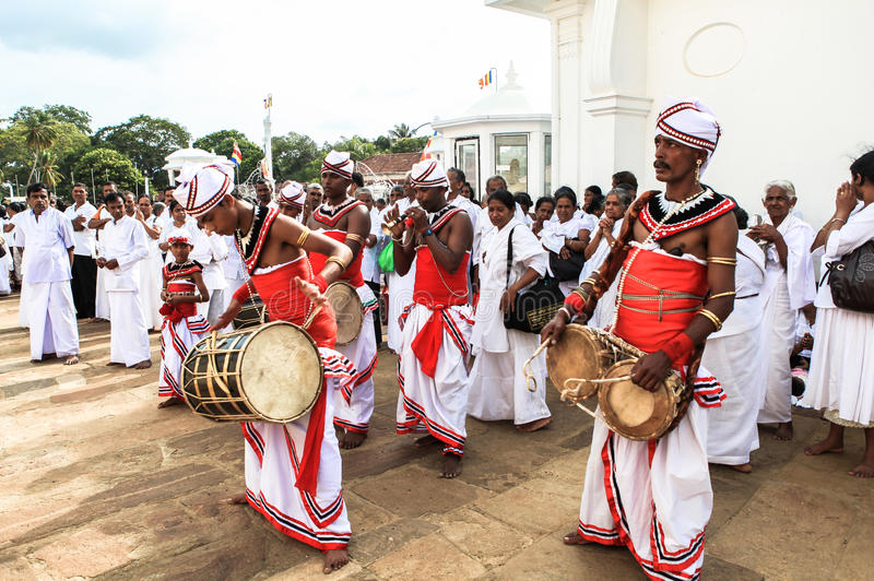 Festival dos peregrinos em Anuradhapura, Sri Lanka fotos de stock royalty free