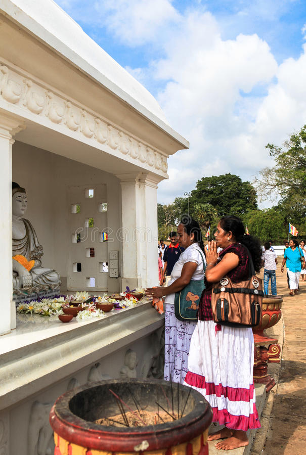 Festival dos peregrinos em Anuradhapura, Sri Lanka fotografia de stock
