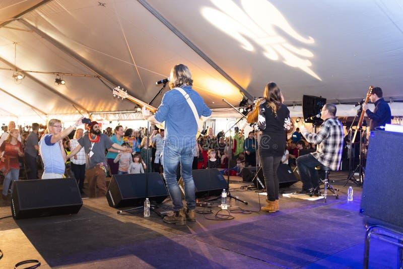 Festival du Bois in Mackin Park stock photo