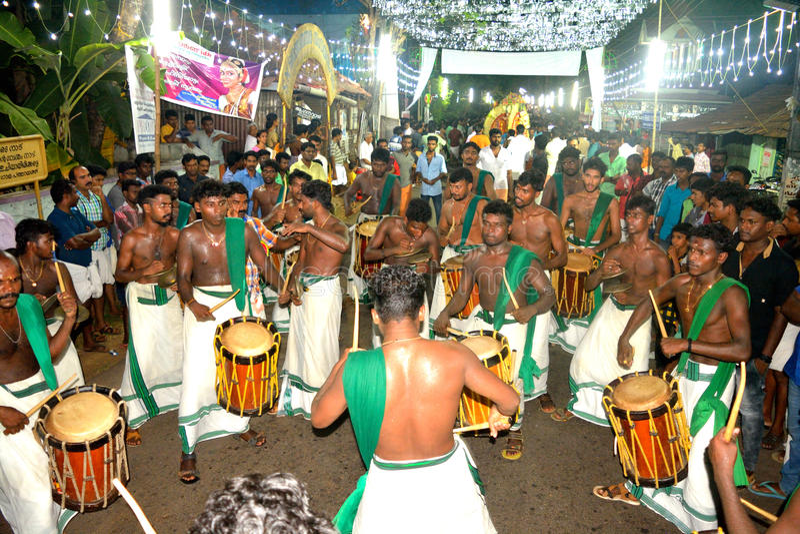 Festival du Kerala image libre de droits