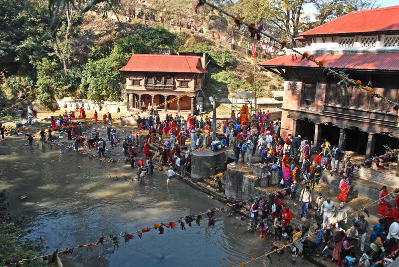 Festival du Népal image libre de droits