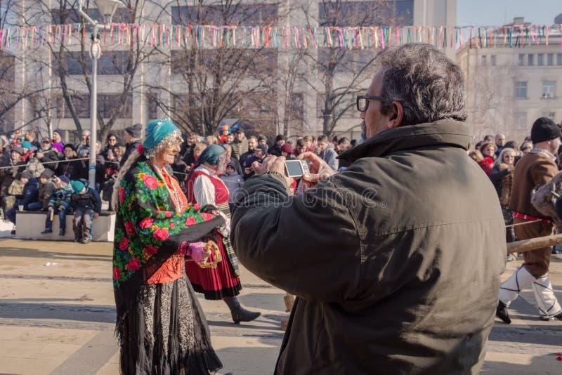 Festival du ` 2018, Pernik, Bulgarie de Surva de ` de jeux de mascarade image stock