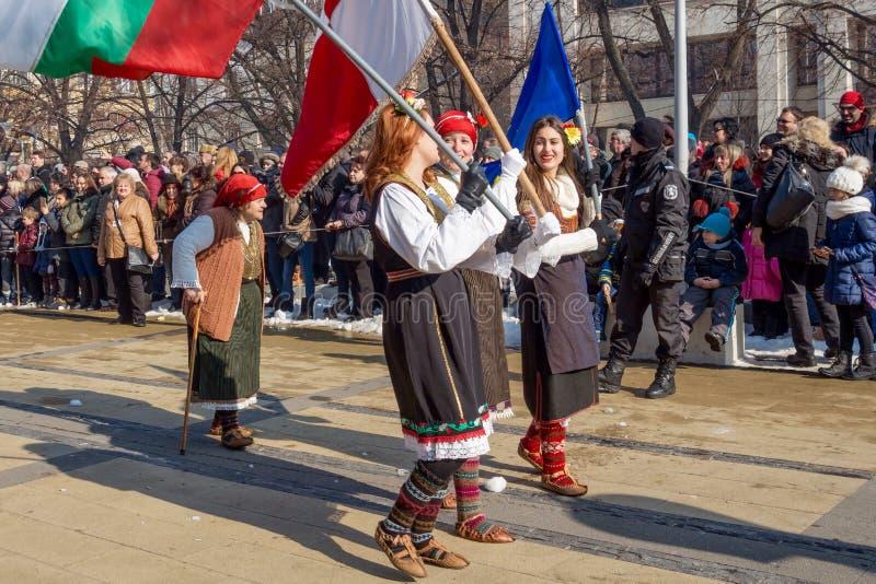 Festival du ` 2018, Pernik, Bulgarie de Surva de ` de jeux de mascarade photographie stock libre de droits