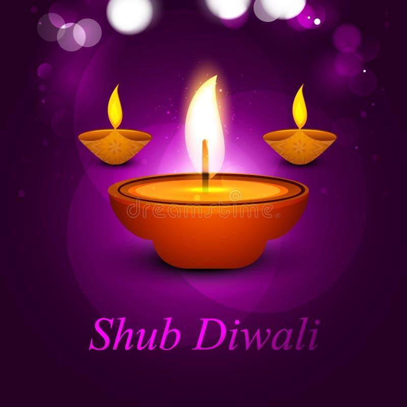 Festival elegante del diwali del ejemplo del vector ilustración del vector