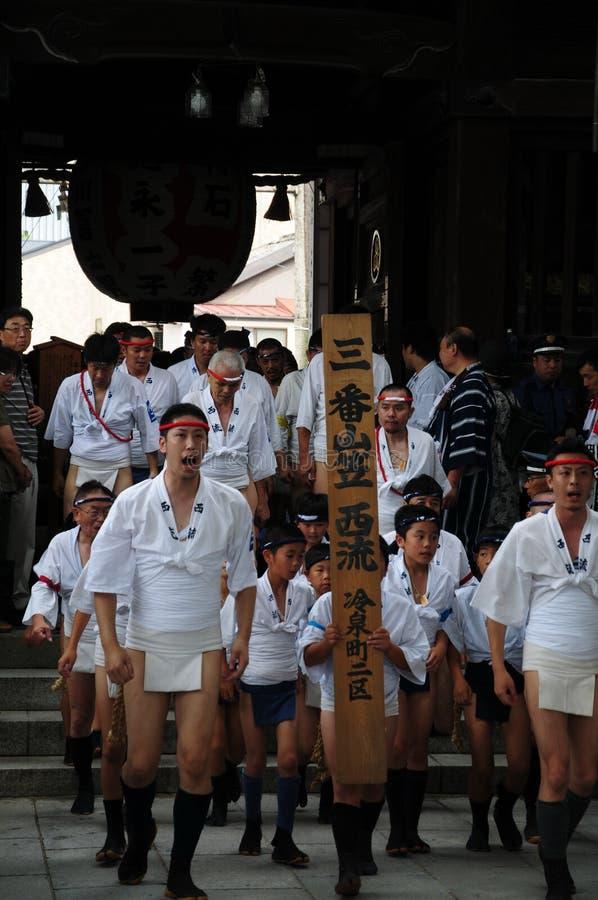 Festival em Hakata Kyushu, Japão (Hakata Gion Yamakasa) foto de stock royalty free