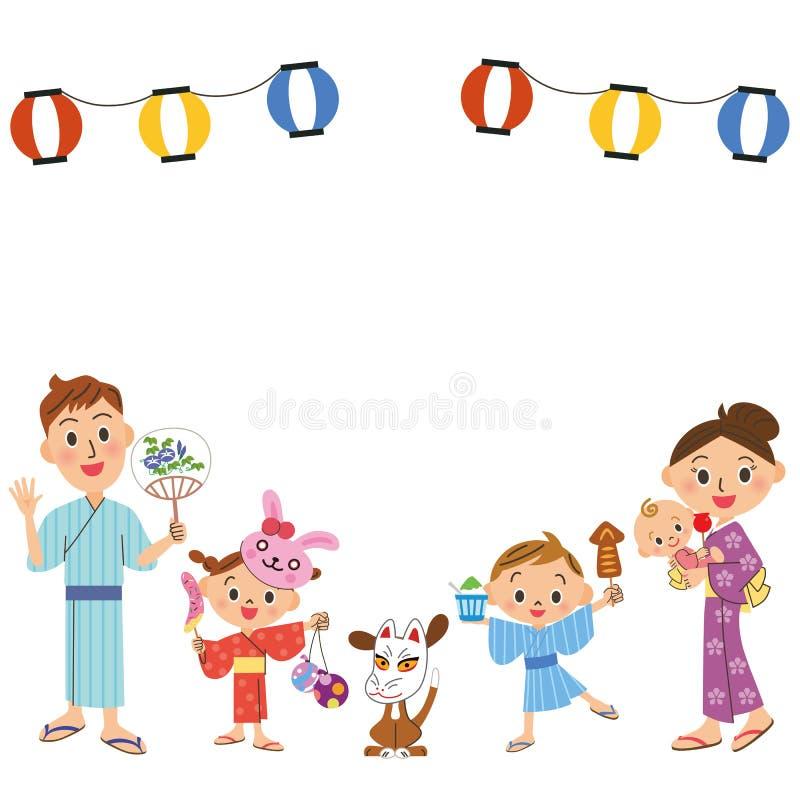 Festival en familias stock de ilustración