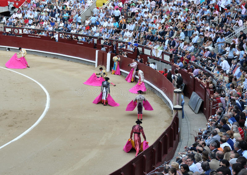 Festival español de la tauromaquia imagen de archivo