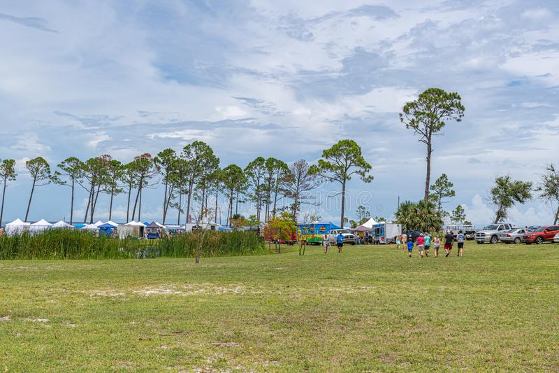 Festival esquecido da tartaruga de mar da costa imagens de stock