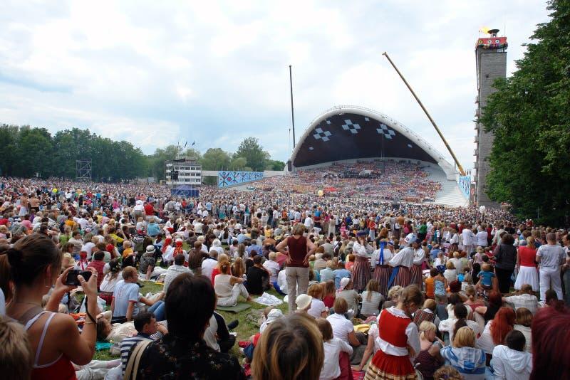 Festival estonien de chanson images stock