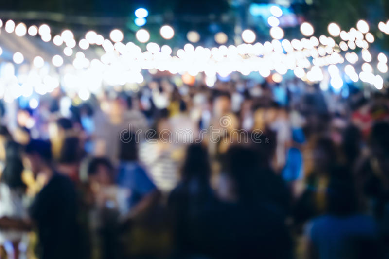 Festival Event Party with People Blurred Background royalty free stock images