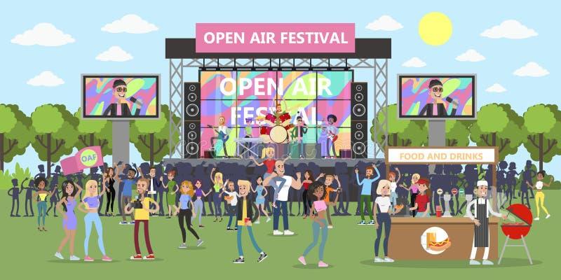 Festival för öppen luft vektor illustrationer