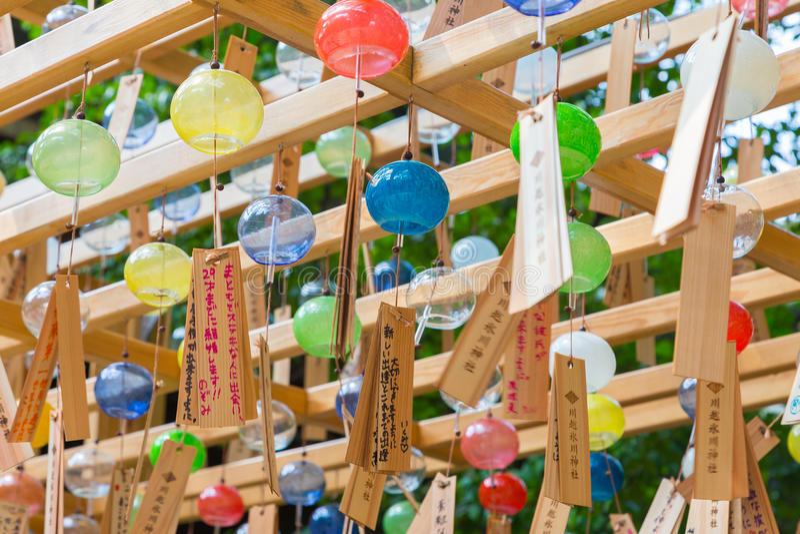 Festival för Chime för Kawagoe Hikawa relikskrinvind royaltyfri foto