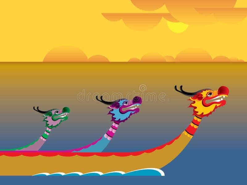 Festival för drakefartyg royaltyfri illustrationer