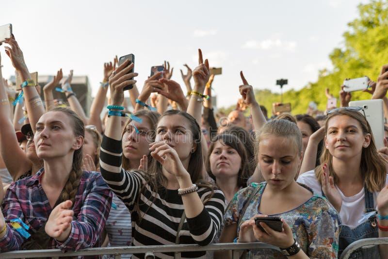 Festival för kartbokhelgmusik i Kiev, Ukraina arkivbild
