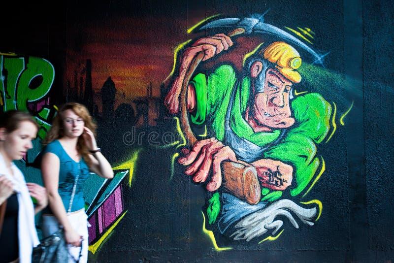Festival för Katowice gatakonst arkivfoton