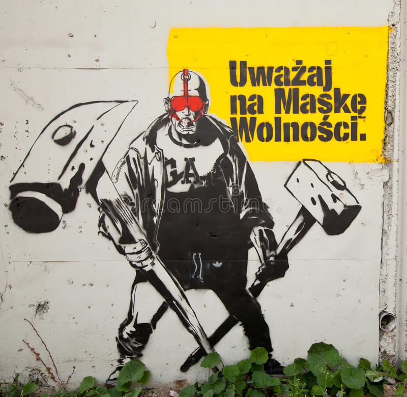 Festival för Katowice gatakonst royaltyfri bild
