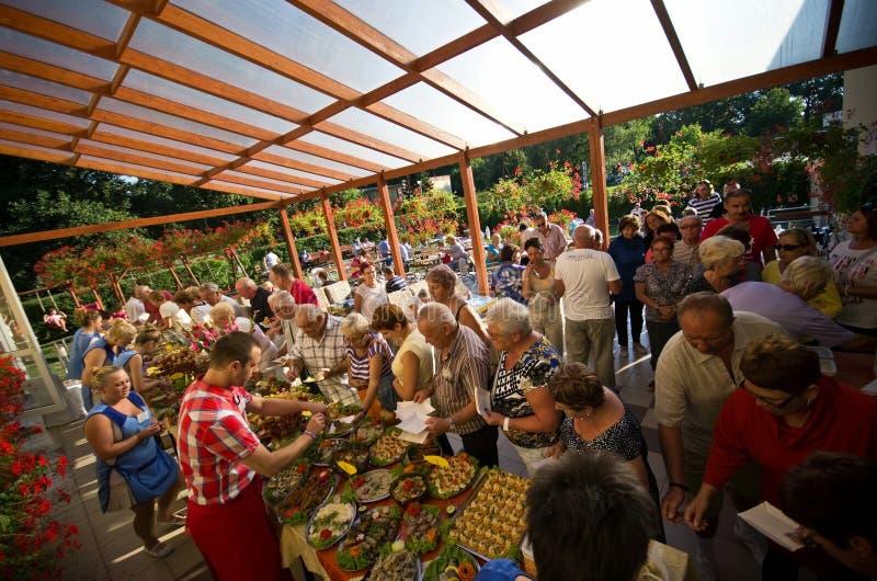 Festival för sommarhotellmat royaltyfria foton
