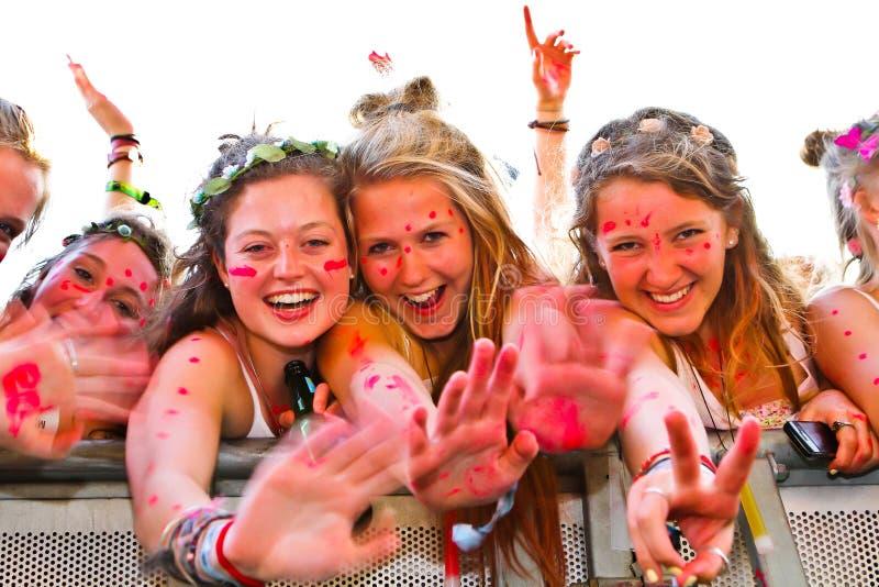 Festival Fans spectators royalty free stock image