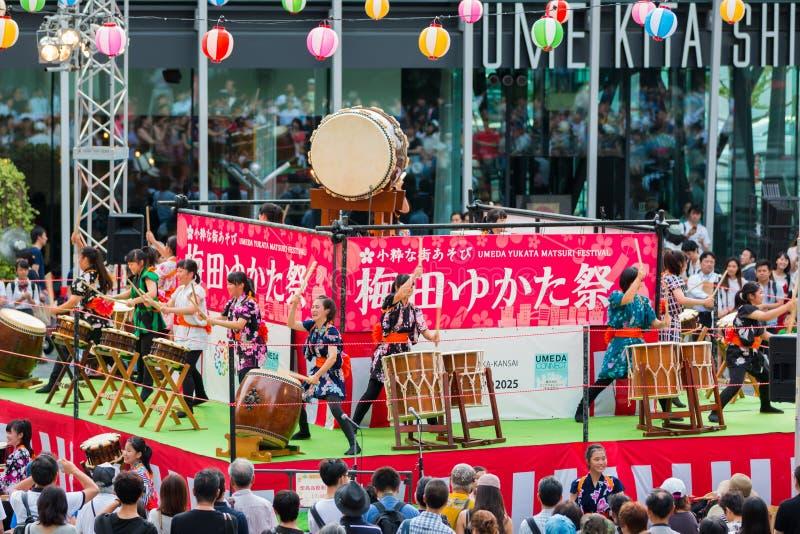 Umeda Yukata Festival. stock photography