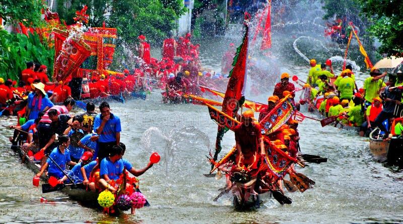 Festival feliz do barco do dragão foto de stock royalty free