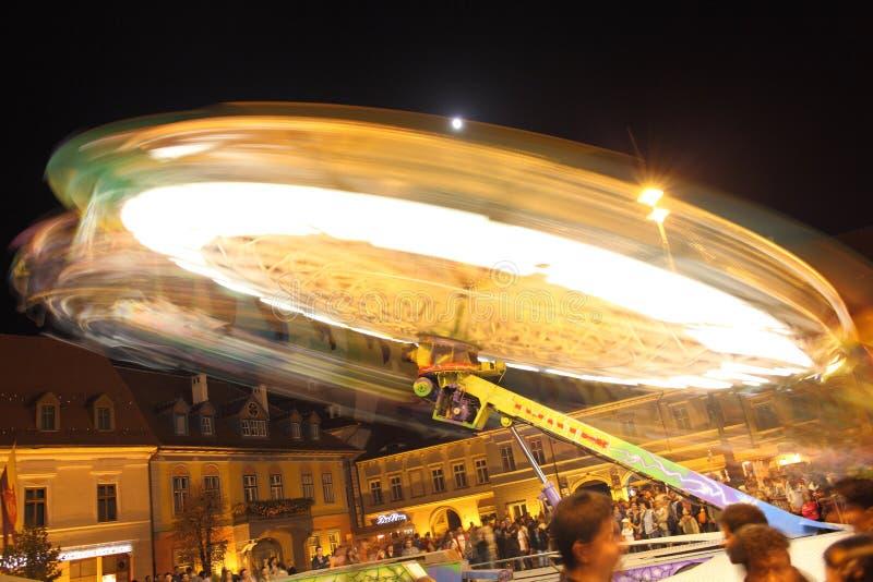 Festival Ferris Wheels In Sibiu At CibinFest Editorial Photo