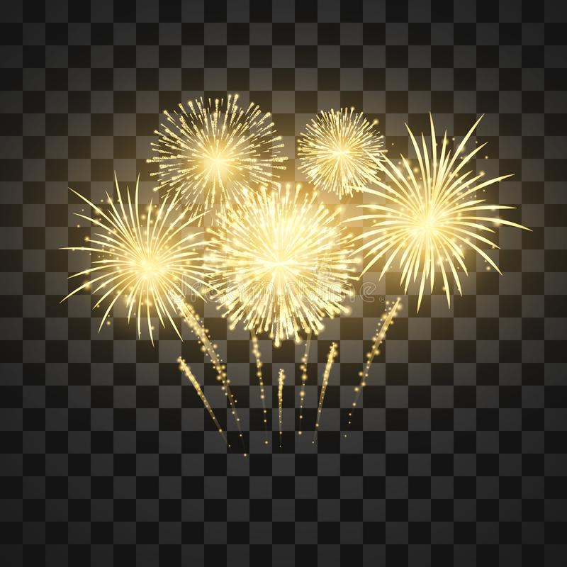 Festival firework. Colorful fireworks holiday background. Vector illustration.  vector illustration