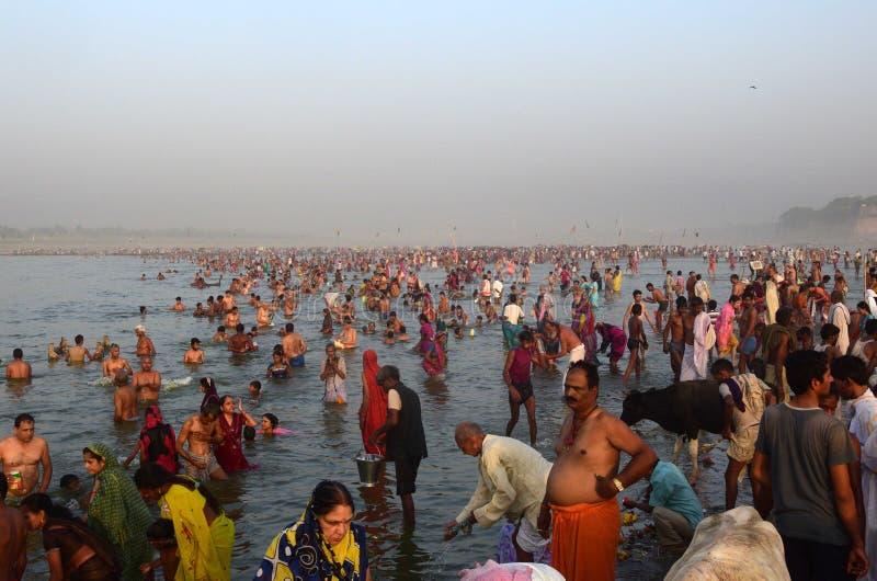 Festival Ganga Dussehra stockfotografie