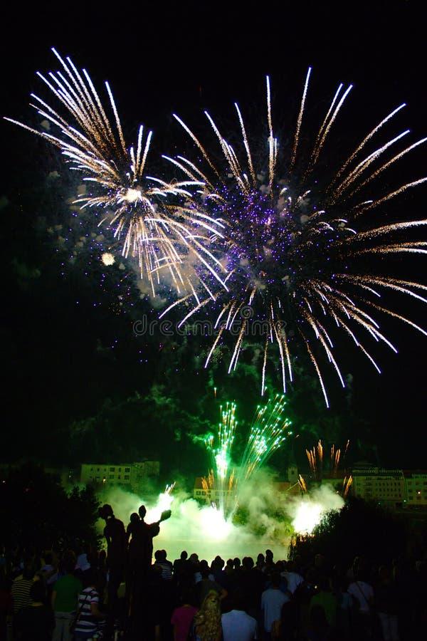 Festival geliehen, Feuerwerk lizenzfreie stockfotografie