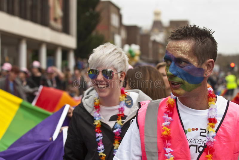 Festival Goers With Painted Faces Editorial Stock Photo