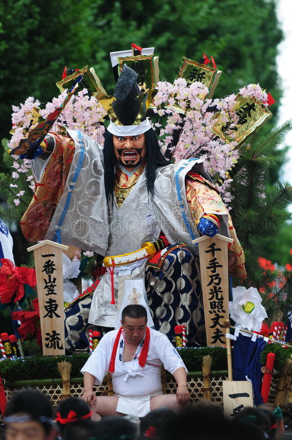 Festival in Hakata Kyushu, Japan (Hakata Gion Yamakasa) stock image