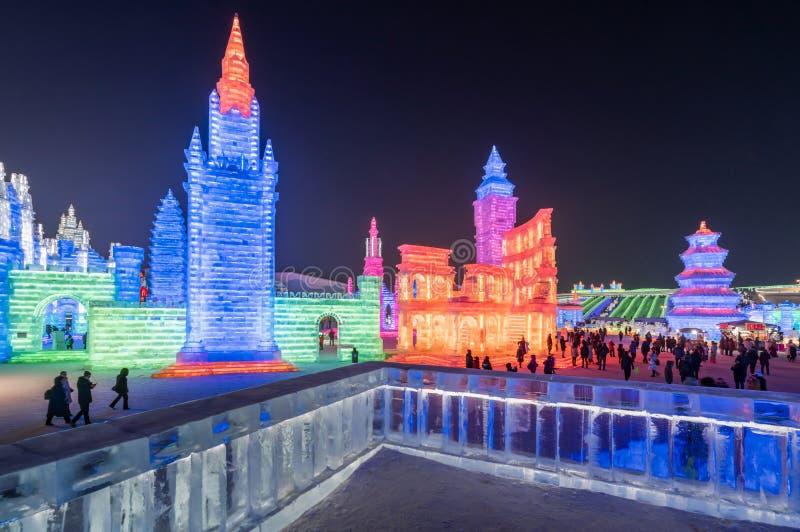Festival 2019, Harbin, Heilongjiang, Chine de glace et du monde de neige photos libres de droits