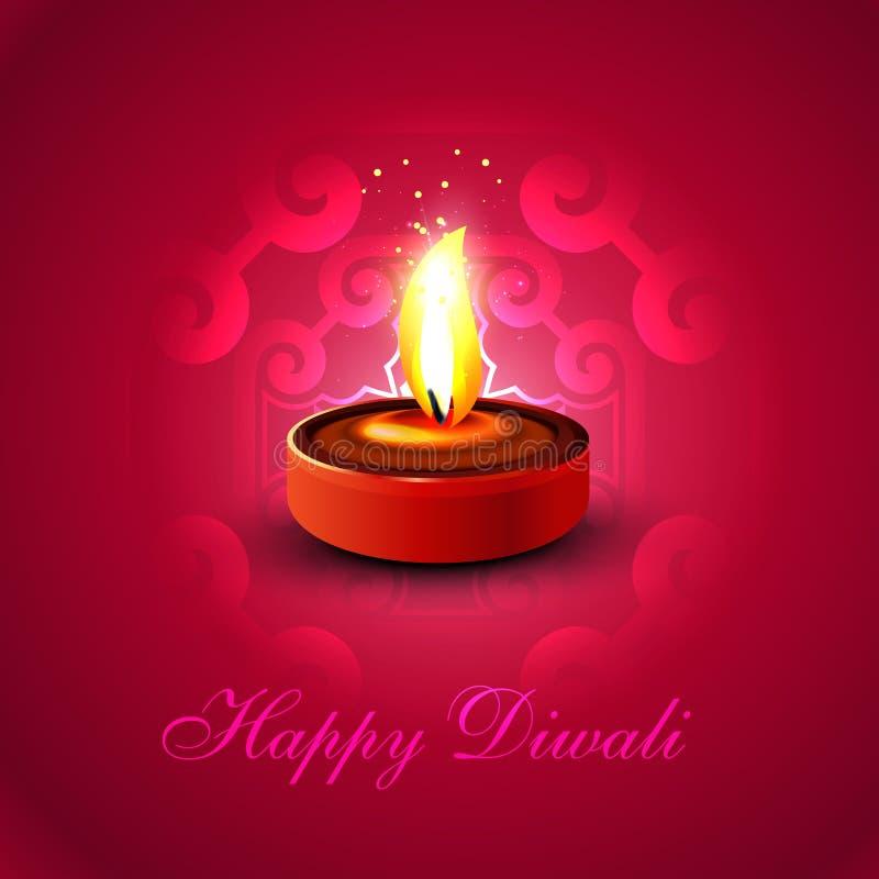 Festival hindu colorido do diya feliz bonito do diwali ilustração do vetor