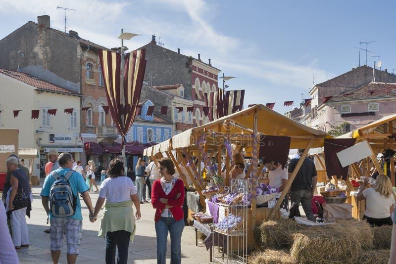 Festival histórico Giostra en Porec, Croacia imagenes de archivo