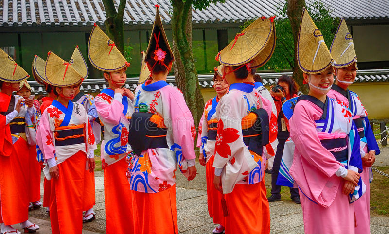 Festival histórico, Nara, Japón imagen de archivo