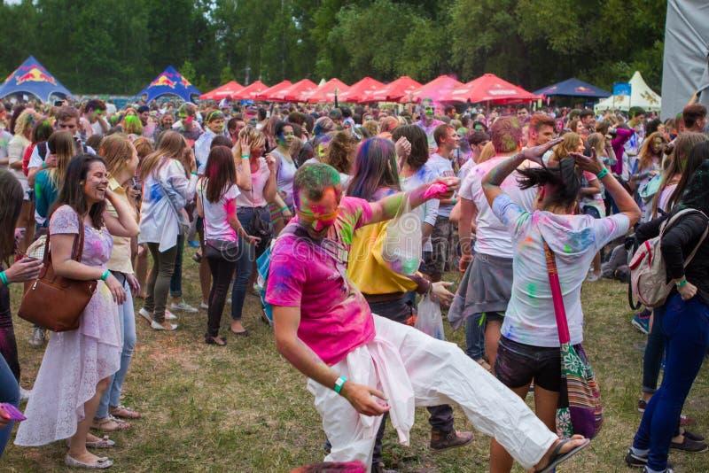 Festival indiano das cores Holi fotos de stock royalty free