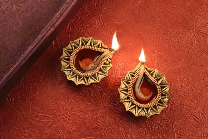 Festival indiano Diwali Deepawali Diya Lamp Lights fotografie stock