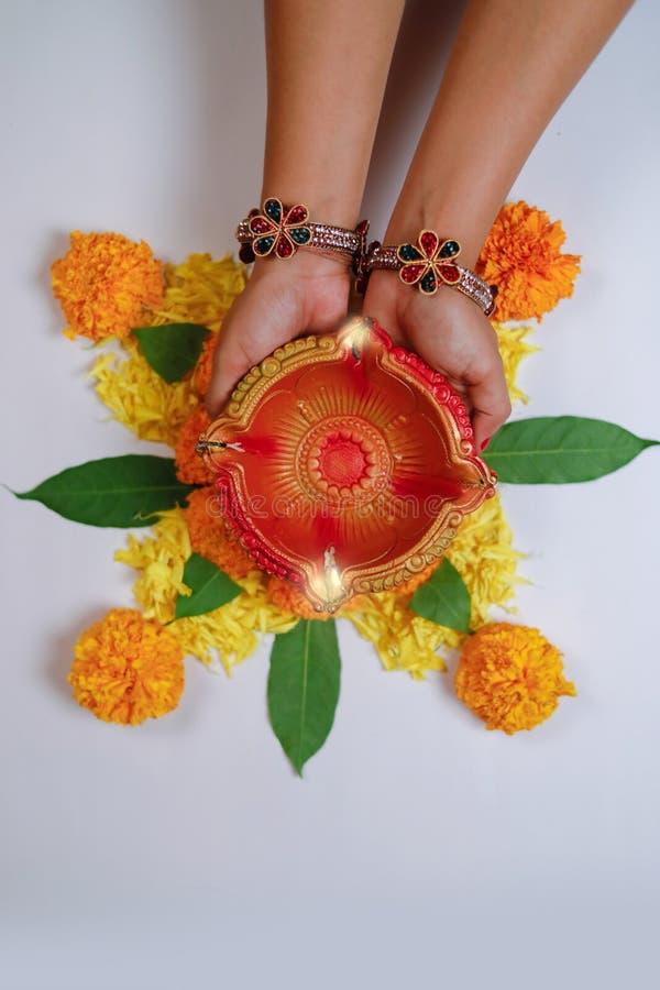 Festival indiano Diwali, lâmpada à disposição fotografia de stock royalty free